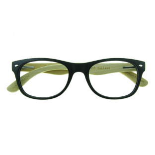 'Oakland' Natural Bamboo Readers Matte Black