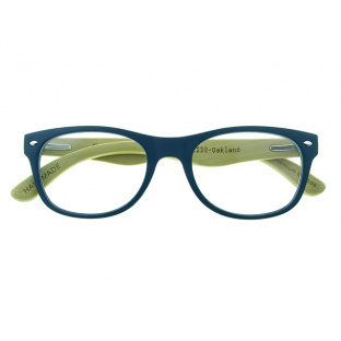 'Oakland' Natural Bamboo Readers Matte Blue