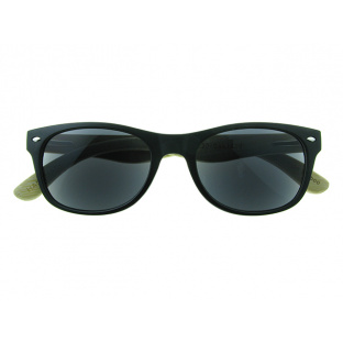 'Oakland' Natural Bamboo Sun Readers Matt Black