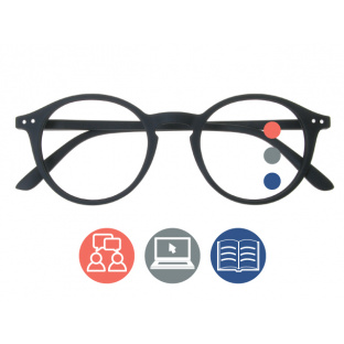 'Sydney Multi-Focus' Progressive Reading Glasses Black