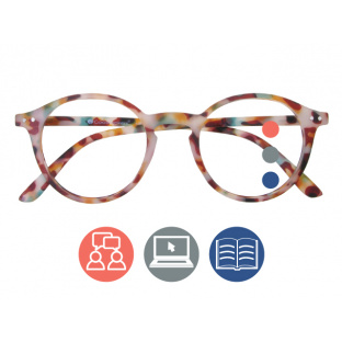 'Sydney Multi-Focus' Progressive Reading Glasses Multi Tortoiseshell