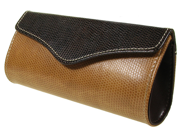 Purse Two Tone Brown Side