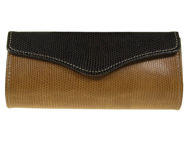 Purse Two Tone Brown Front