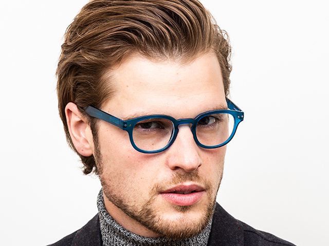 'Holiday' Reading Glasses Blue