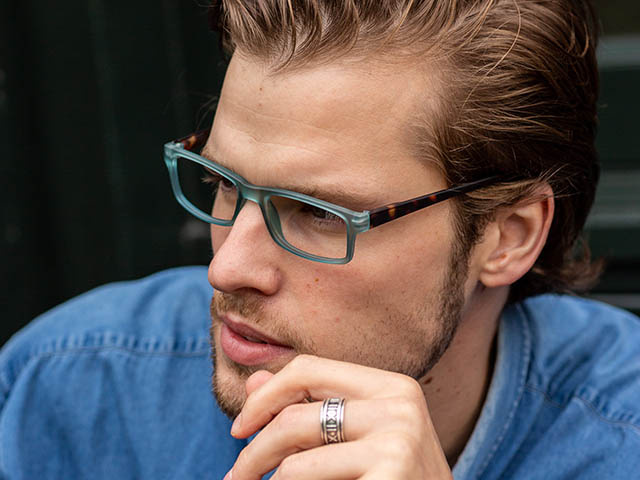 'Alex' Reading Glasses Blue/Tortoiseshell