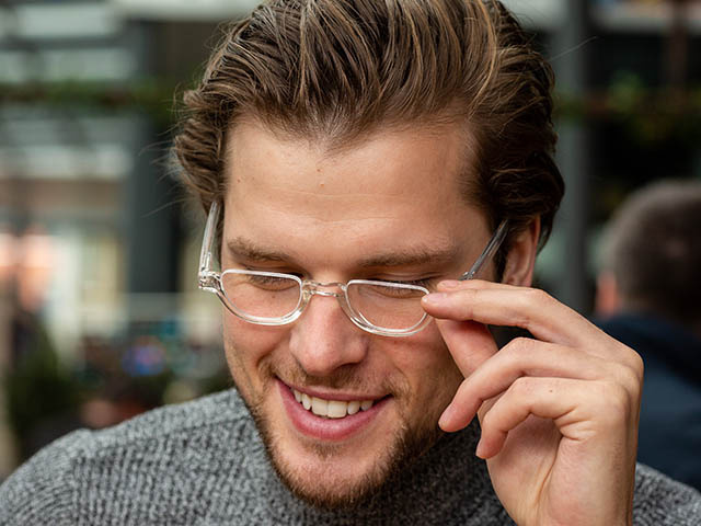 'Henley' Reading Glasses Transparent
