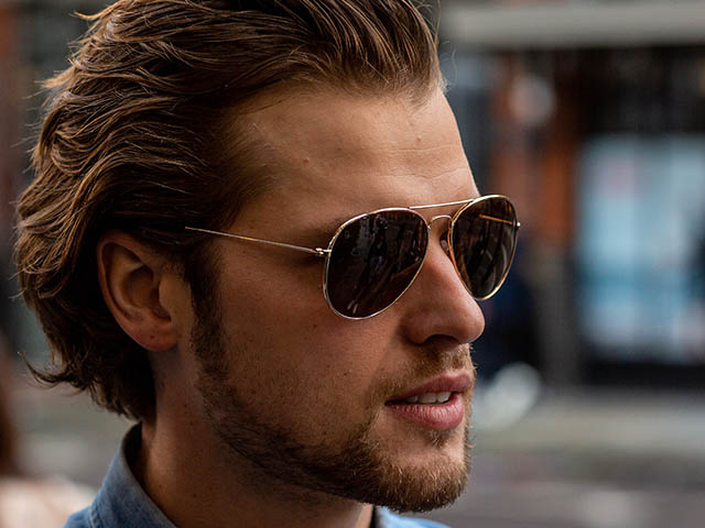 'Ace' Reading Sunglasses Gold