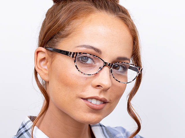 'Wilma' Reading Glasses Brown Leopard