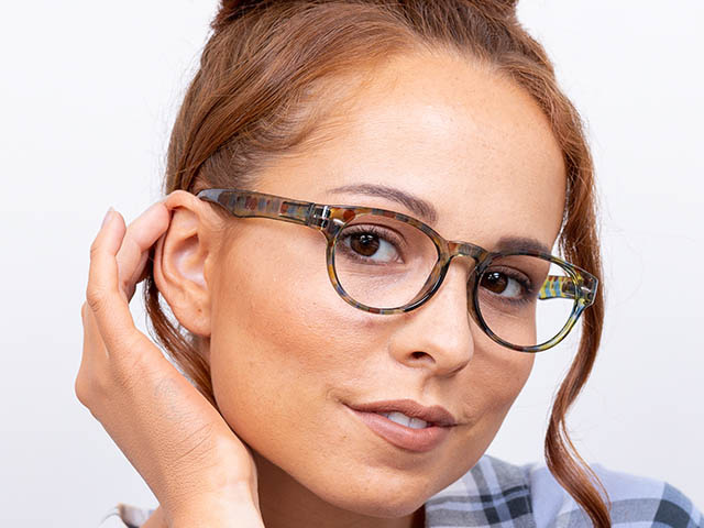 'Zest' Reading Glasses Yellow/Blue Multi