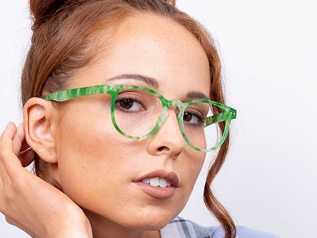 'Surrey' Reading Glasses Green