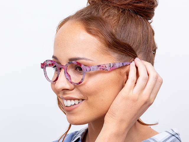 'Botanica' Reading Glasses Pink Floral