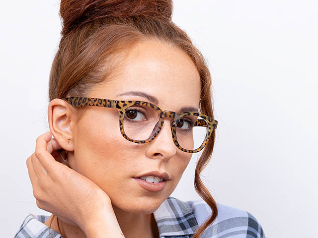 'Kitty' Reading Glasses Brown Leopard