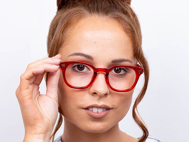 'Joy' Reading Glasses Red