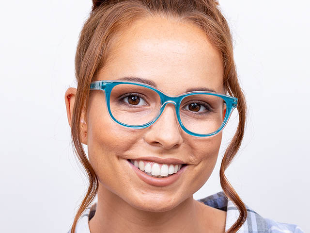 'Robyn' Reading Glasses Turquoise