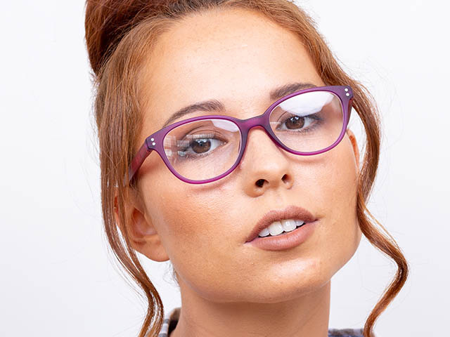 'Emmy' Reading Glasses Purple/Pink