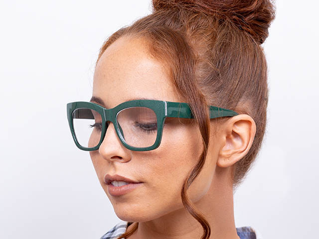 'Showtime' Reading Glasses Green