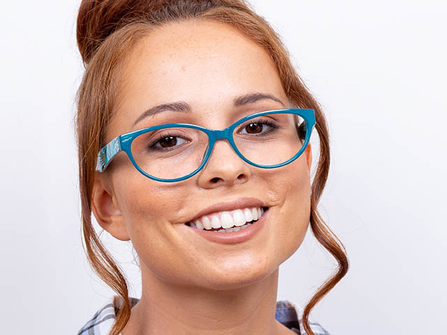 'Eden HD' Reading Glasses Turquoise