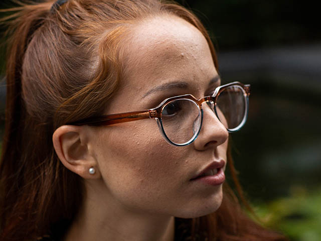 'South Bank' Reading Glasses Brown/Blue