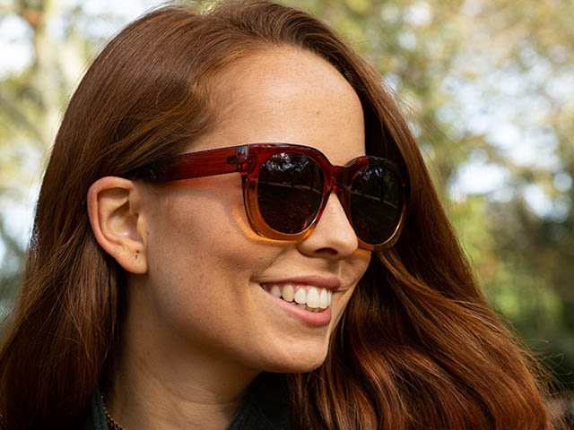 'Riviera' Polarized Sunglasses Brown