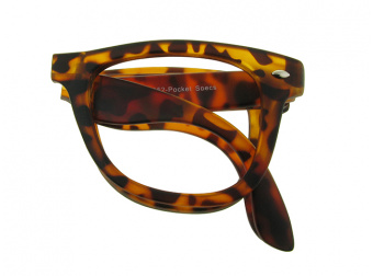 Pocket Specs Tortoiseshell Folded