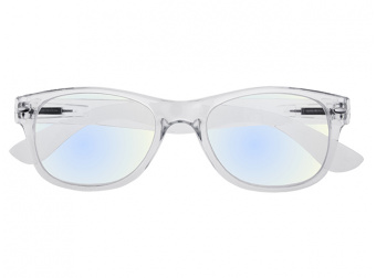 Goodlookers Blue Light Reading Glasses 'Billi' Transparent Front View