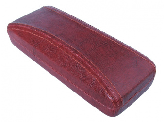 Aged Leather Look Stitched Red