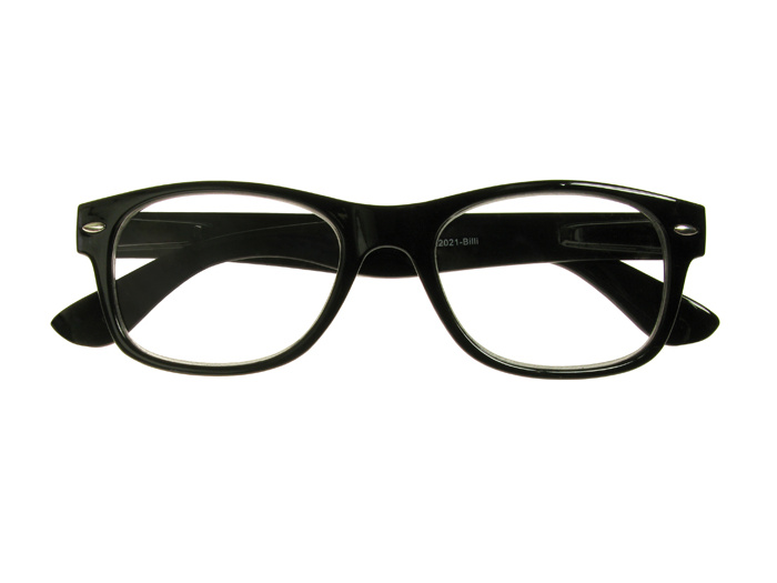 'Billi' Reading Glasses Shiny Black