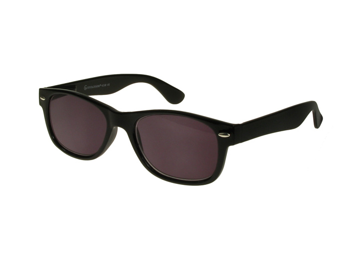 'Dakota' Reading Sunglasses Shiny Black