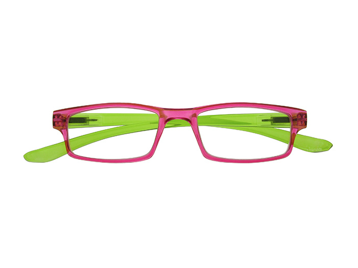 'Neck Specs' Reading Glasses Fuchsia/Green