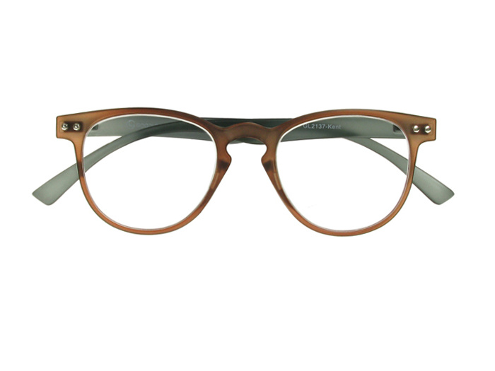 'Kent' Reading Glasses Brown/Gray