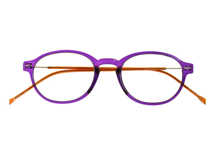 'Weekend' Reading Glasses Purple/Orange