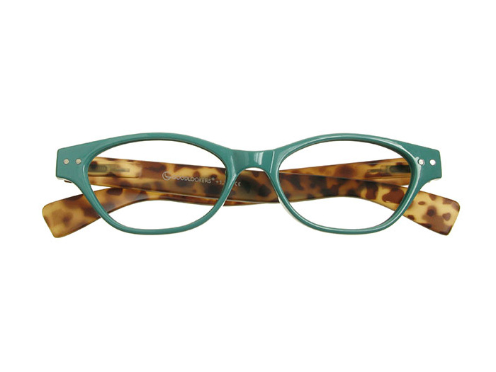 'Layla' Reading Glasses Turquoise/Tortoiseshell