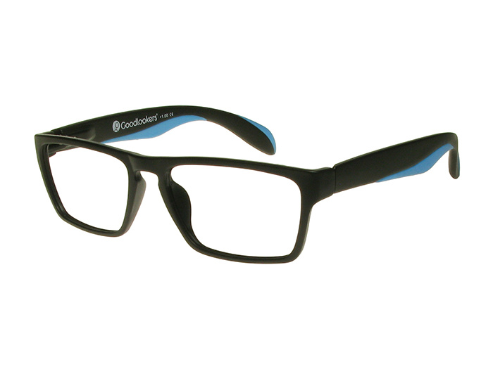 'Dean' Reading Glasses Black/Blue
