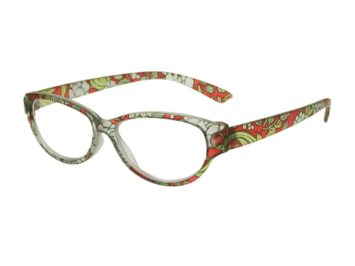 'Lulu' Reading Glasses Red Floral