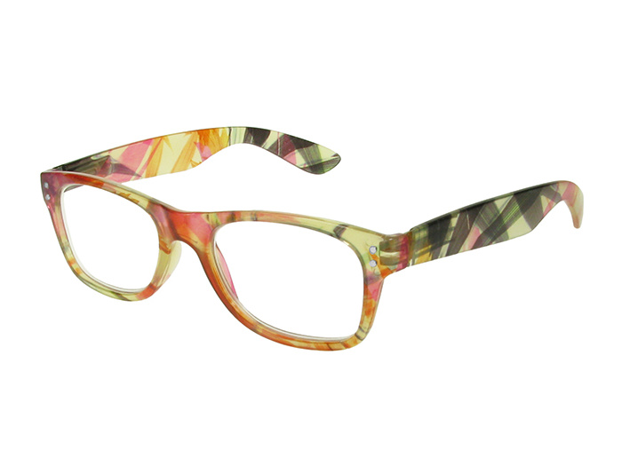 'Harper' Reading Glasses Orange Floral