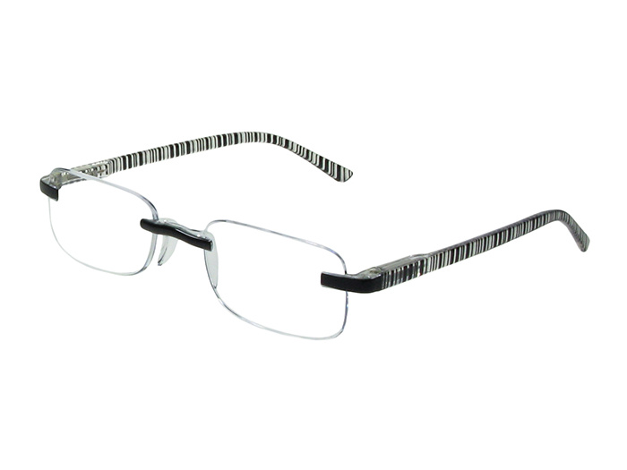 'Helsinki' Reading Glasses Black Stripe