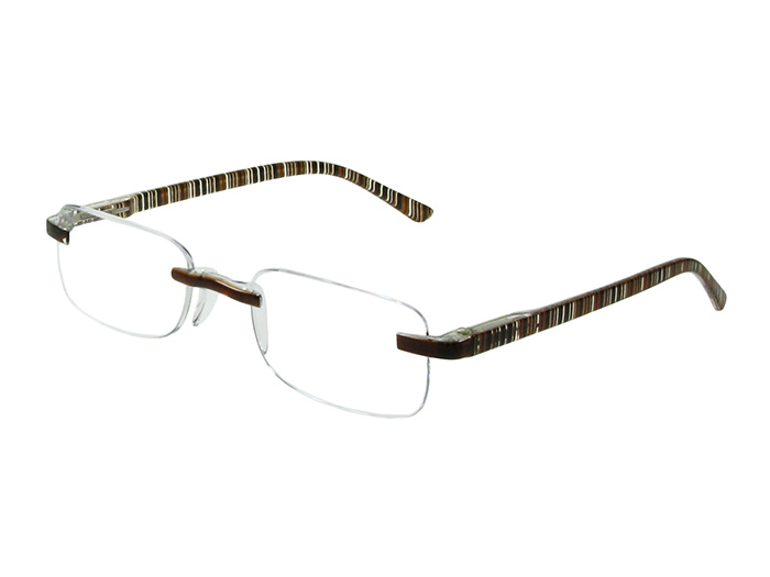 'Helsinki' Reading Glasses Brown Stripe