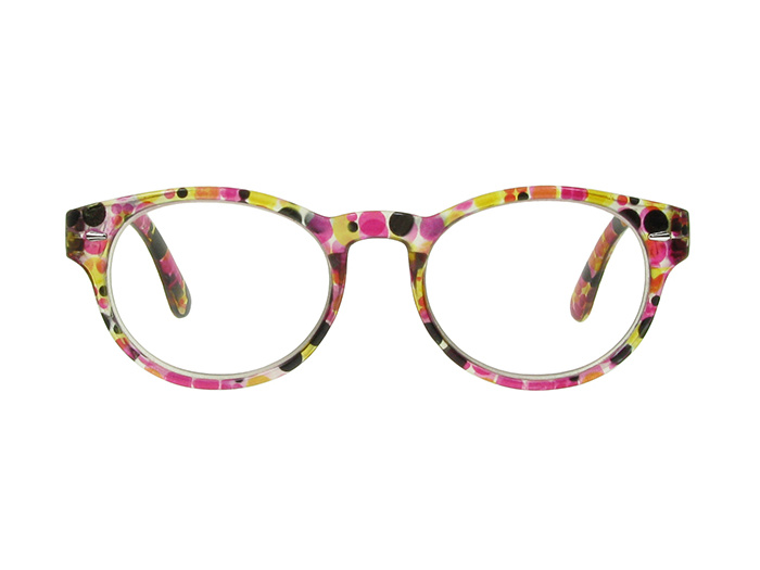 'Zest' Reading Glasses Black/Red Multi