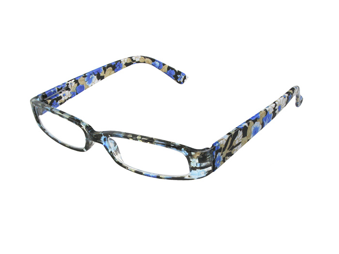 'Bette' Reading Glasses Blue Floral