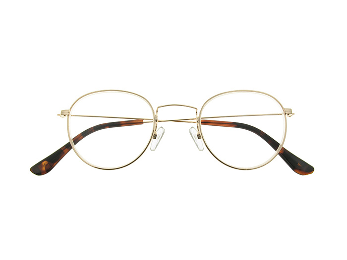 'Bakerloo' Reading Glasses Gold