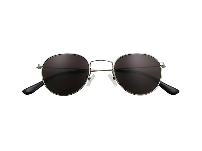 'Bakerloo' Reading Sunglasses Silver