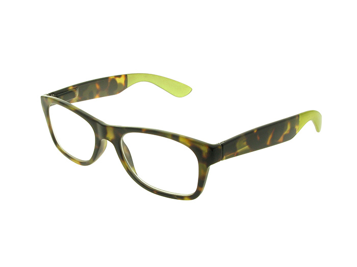 'Highgate' Reading Glasses Brown/Green