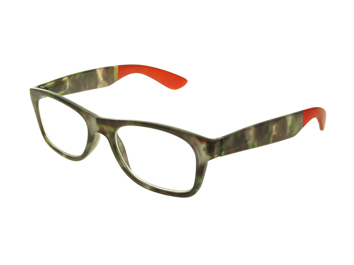 'Highgate' Reading Glasses Gray/Red