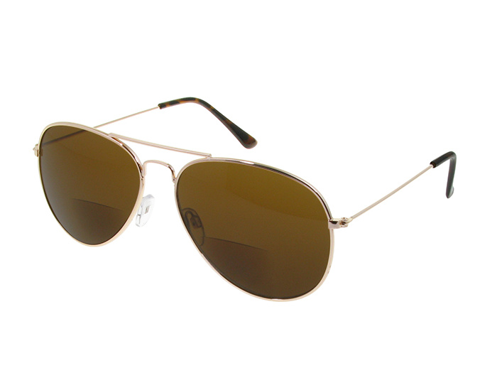 'Ace Bifocal' Reading Sunglasses Gold