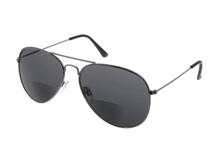 'Ace Bifocal' Reading Sunglasses Gun Metal