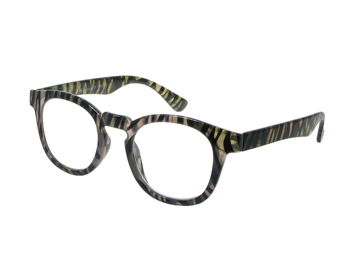 'Kitty' Reading Glasses Gray Zebra