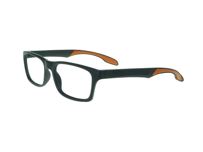 'Joshua' Reading Glasses Black/Orange