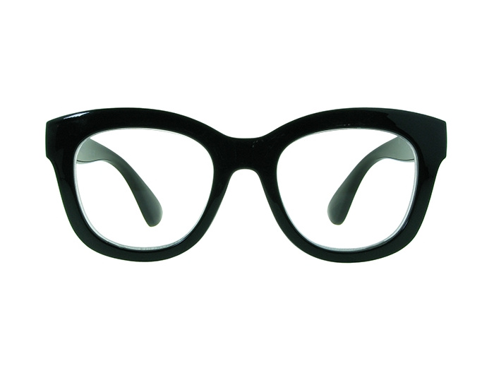 'Encore' Reading Glasses Shiny Black
