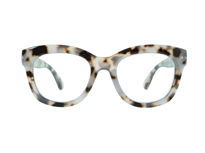 'Encore' Reading Glasses White Tortoiseshell