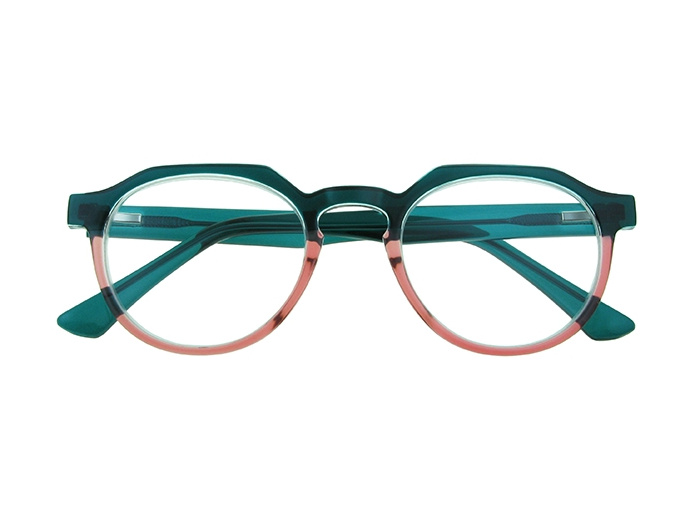 'South Bank' Reading Glasses Turquoise/Pink